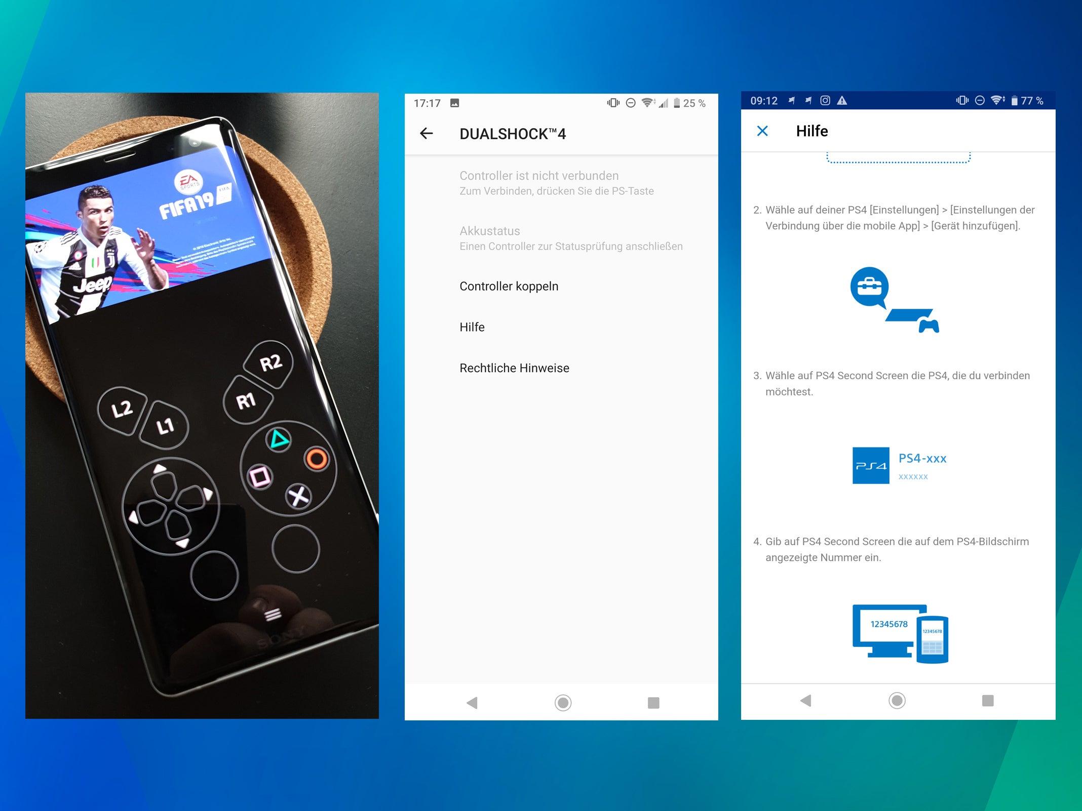 Sony Xperia XZ3 und PlayStation