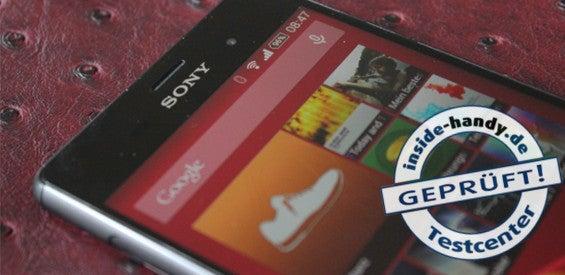 Sony Xperia Z3 mit Testlogo