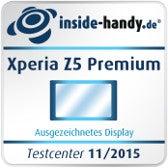 Sony Xperia Z5 Premium Testsiegel Display
