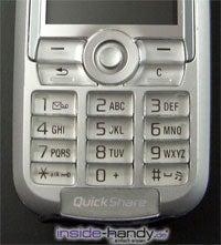 Sony-Ericsson K700i - Tastatur