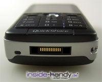 Sony-Ericsson K750i - Kabelanschluss