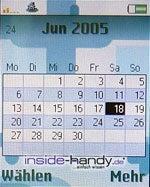 Sony-Ericsson K750i - Kalender