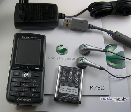 Sony-Ericsson K750i - Lieferumfang