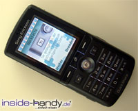 Sony-Ericsson K750i - liegend Display an