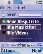 Sony-Ericsson K750i - Mediaplayer