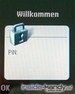 Sony-Ericsson K750i - PIN eingabe