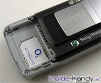 Sony-Ericsson K750i - Sim Schacht