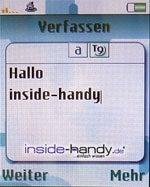 Sony-Ericsson K750i - SMS schreiben