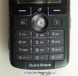 Sony-Ericsson K750i - Tastatur