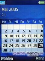 SonyEricsson S700i - Display Kalender