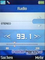SonyEricsson S700i - Display Radio