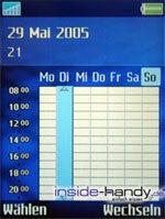SonyEricsson S700i - Display Wochenkalender
