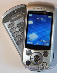 SonyEricsson S700i - leicht aufgeklappt