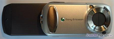 SonyEricsson S700i - Rückseite geöffnet