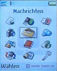 Sony-Ericsson T630 - Display Menü
