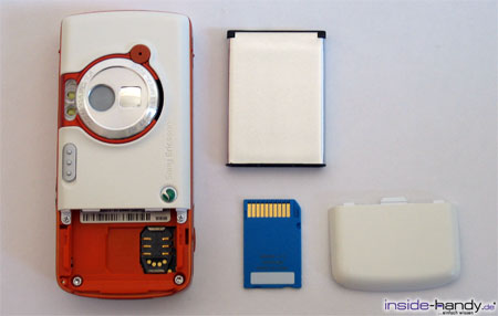 Sony-Ericsson W800i - auseinander gebaut
