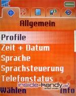 Sony-Ericsson W800i - Einstellungen
