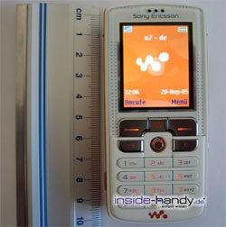 Sony-Ericsson W800i - größe
