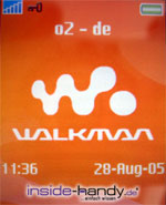 Sony-Ericsson W800i - Hintergrundbild