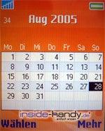 Sony-Ericsson W800i - Kalender