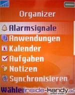 Sony-Ericsson W800i - Organizer