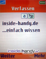 Sony-Ericsson W800i - SMS verfassen