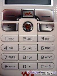 Sony-Ericsson W800i - Tastatur