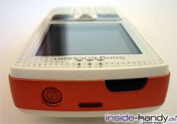 Sony-Ericsson W800i - von oben