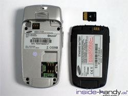 Sony-Ericsson z500 - aufgeklappt