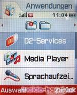 Sony-Ericsson z500 - Display Anwendungen
