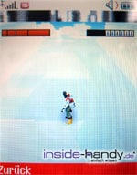 Sony-Ericsson z500 - Display Snowboardspiel