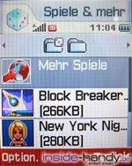 Sony-Ericsson z500 - Display Spiele und mehr