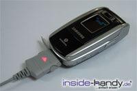 Sony-Ericsson z500 - Kabel angeschlossen