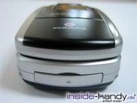 Sony-Ericsson z500 - liegend von unten