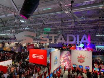 Google Stadia Logo auf der Gamescom