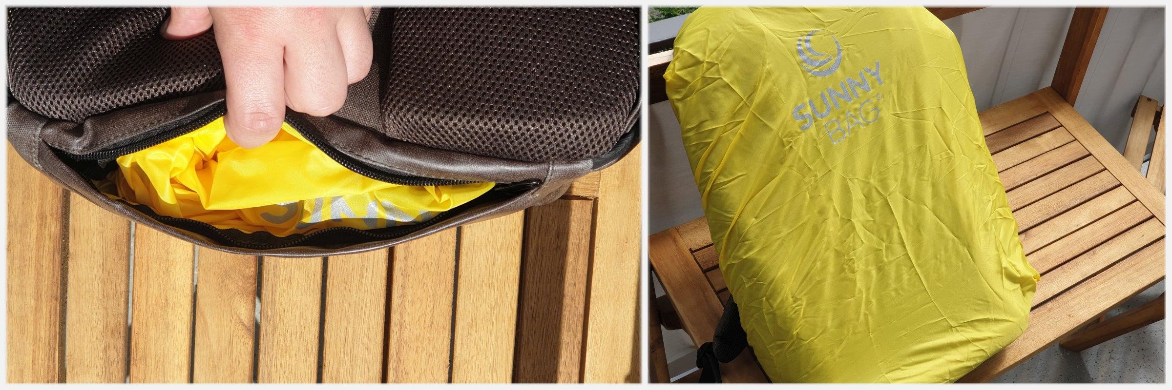 Regenschutz des Solar-Rucksack