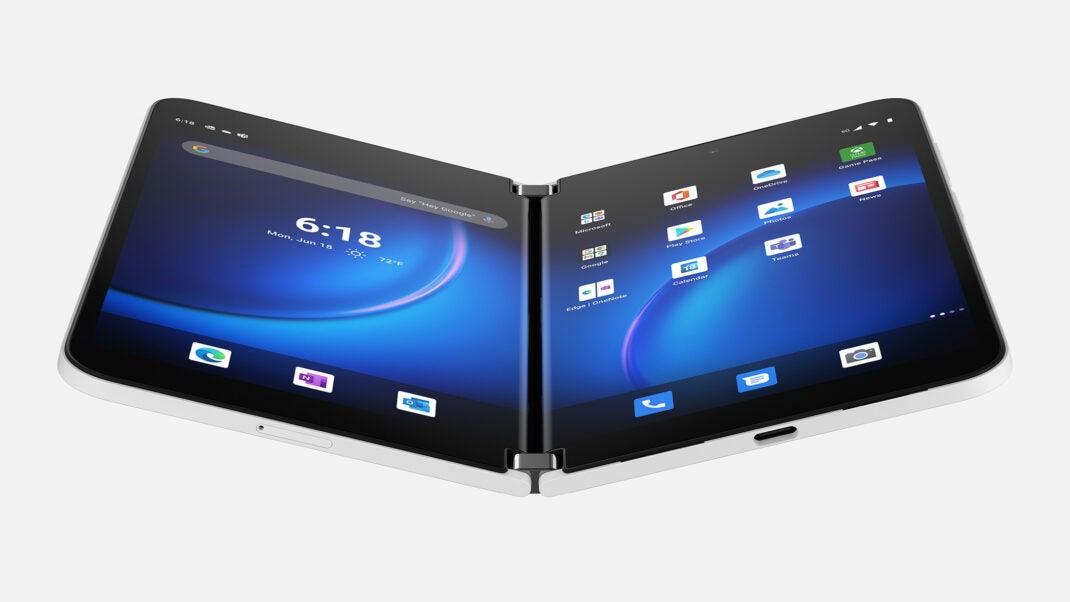 Die beiden Bildschirme des Surface Duo 2