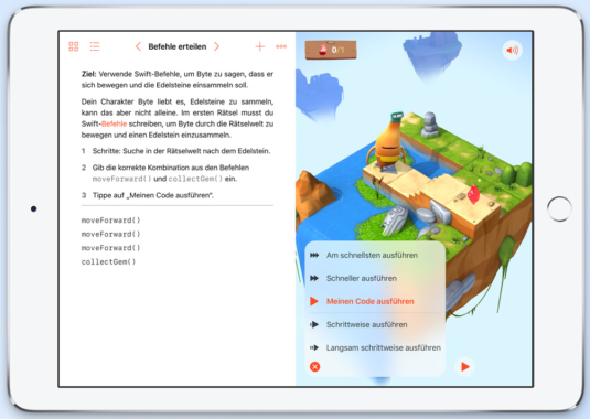 Kinder-Tablets: Apple iPad mit Swift Playgrounds