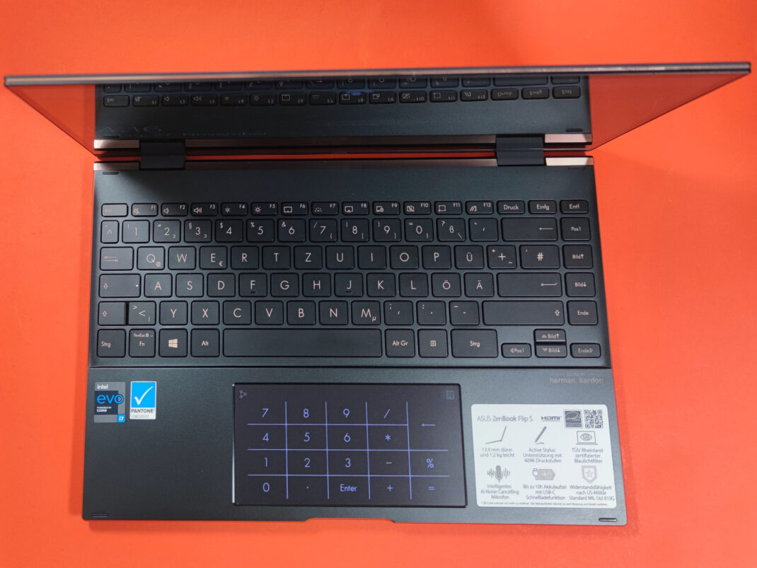 Tastatur des Asus Zenbook Flip S