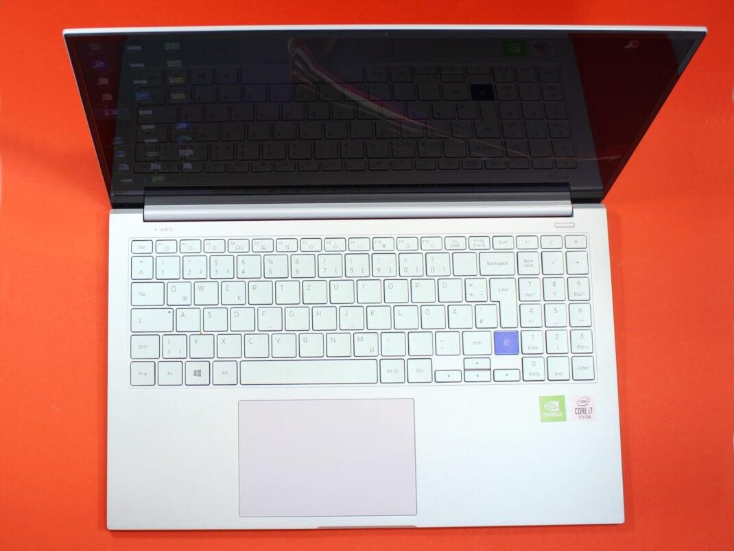 Tastatur des Samsung Galaxy Book Flex