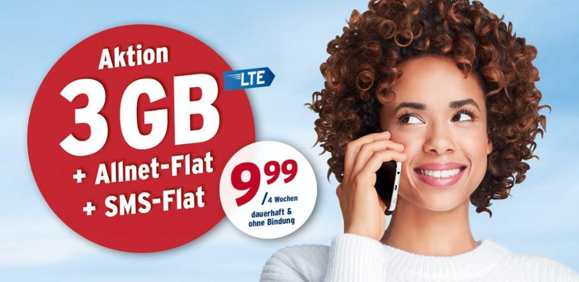 Tchibo-Aktion: 3 GB Allnet-Flatrate für unter 10 Euro