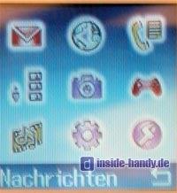 Tchibo (TCM) Foto-Handy - Hauptmenü