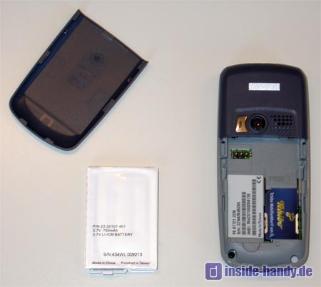 Tchibo (TCM) Foto-Handy - Rückseite ohne Akku