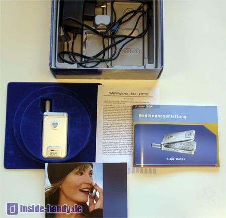 Tchibo (TCM) Klapp Handy - Lieferumfang