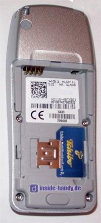Tchibo (TCM) Kompakt Handy - Innenansicht ohne Akku