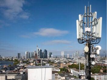 5G-Antenne in Frankfurt am Main.