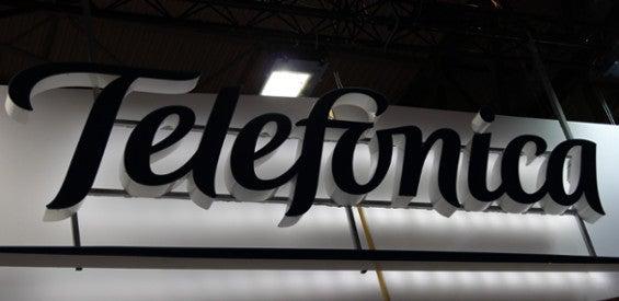 Telefonica-Logo MWC Stand