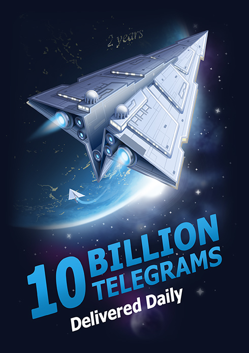 Telegram: 10 Milliarden Nachrichten pro Tag