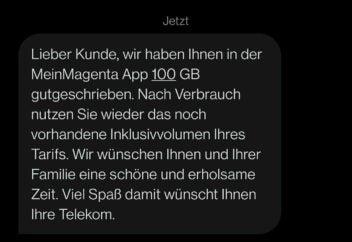 100 GB gratis Telekom