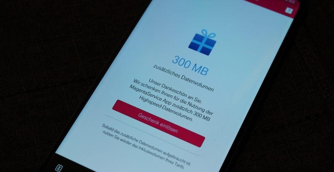 Telekom schenkt Bestandskunden 300 MB Datenvolumen via App